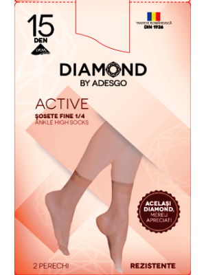 Sosete 4 BUC 1/4 Diamond Active
